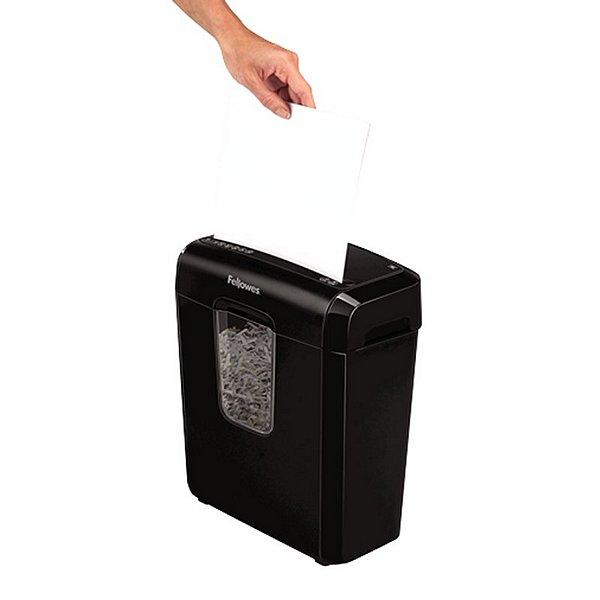 Micro-Cut Paper Shredder Fellowes 4687401 11 L 6 Sheets Black