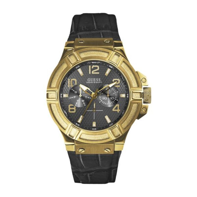 Reloj Hombre Guess W0040G (45 mm) (Chocolate negro)