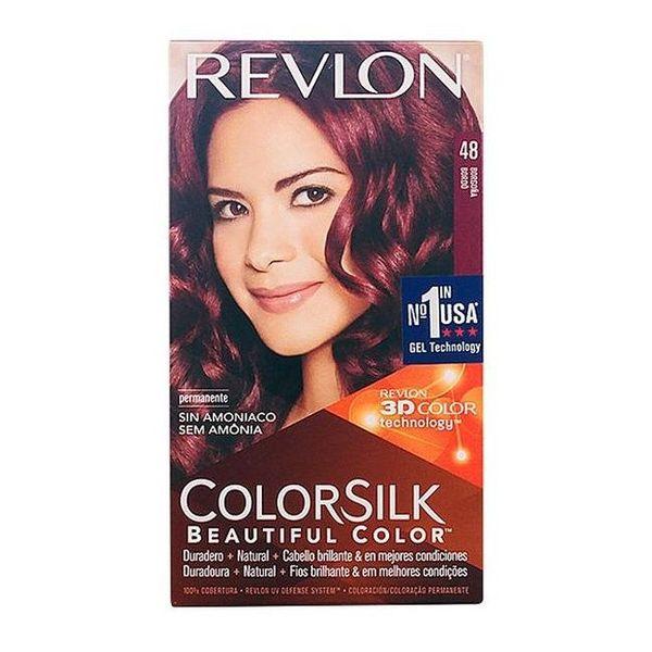 Tinte sin Amoniaco Colorsilk Revlon Borgoña