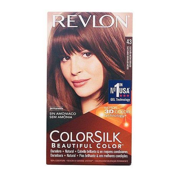 Tinte sin Amoniaco Colorsilk Revlon Castaño dorado