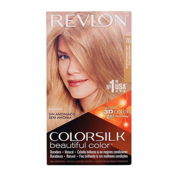 Tinte sin Amoniaco Colorsilk Revlon Rubio claro ceniza