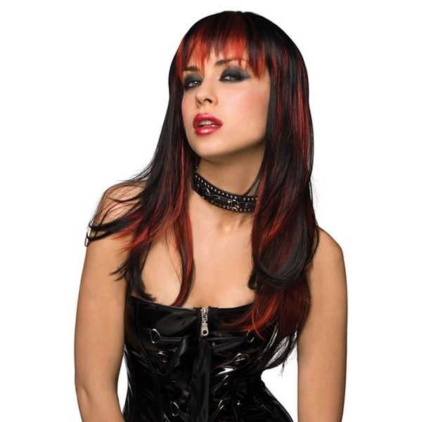Black with Burnt Red Pleasure Wigs 81314