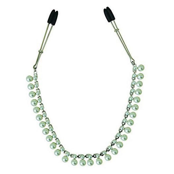 Midnight Pearl Chain Nipple Clips Sportsheets SS520-33