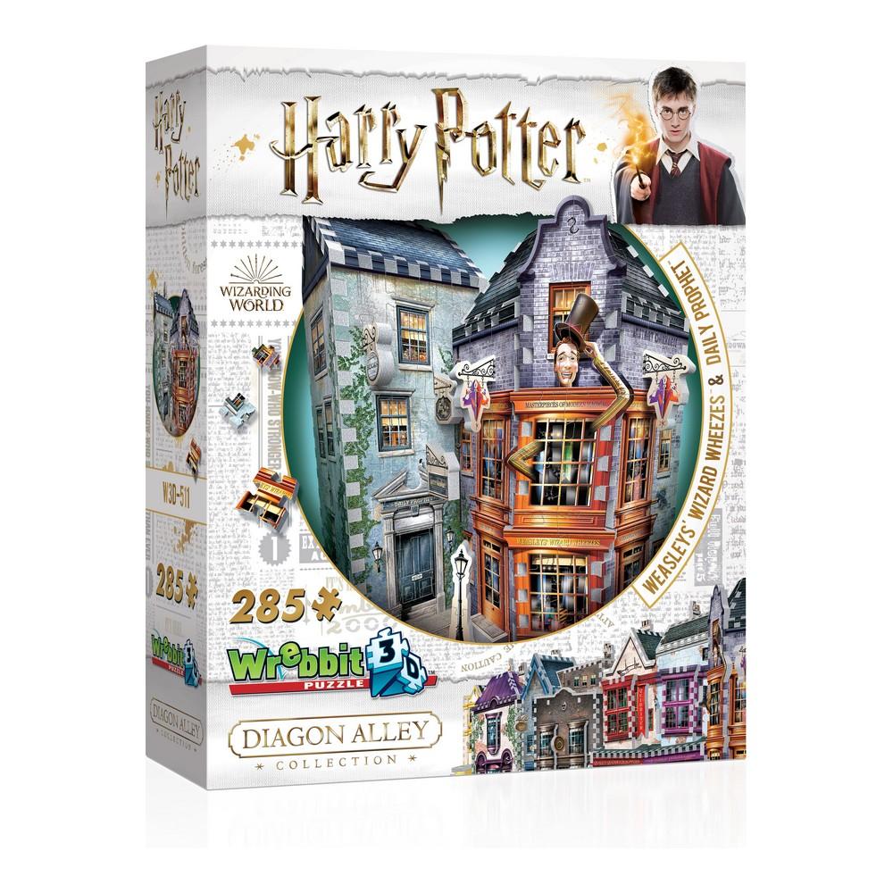 3D Puzzle Harry Potter Weasley`s Wizard Wheezes & Daily Prophet Wrebbit (285 pcs)