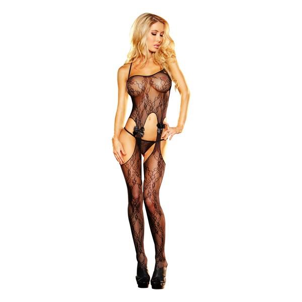Bodystocking Crotchless Lace Lapdance Black