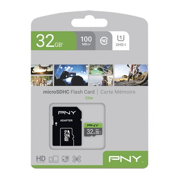Tarjeta de Memoria SDHC PNY Elite 32 GB Negro