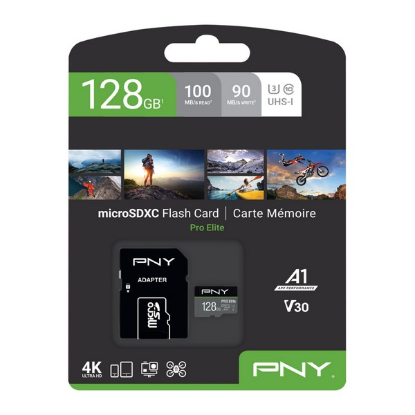 Micro SD Memory Card with Adaptor PNY Pro Elite C10