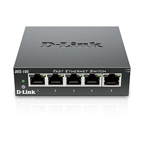 Switch de Sobremesa D-Link DES-105 LAN Negro