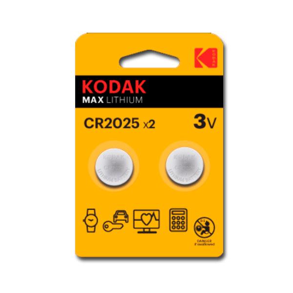 Pilas Litio CR2025 Kodak ULTRA MAX LITHIUM 3V (2 uds)
