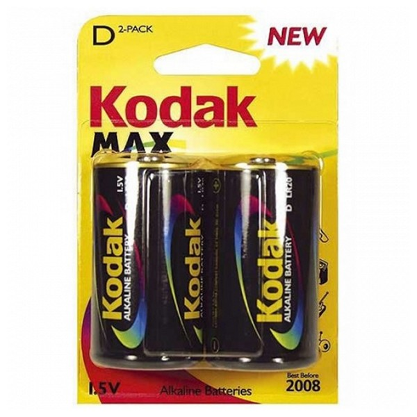 Alkaline Battery Kodak LR20 1,5 V (2 pcs)
