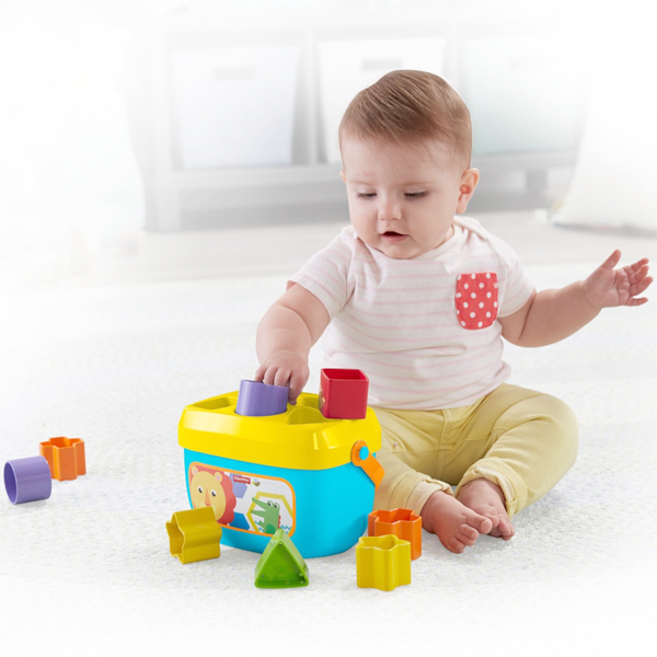 Basket with Building Blocks Mattel 10 pcs (6+ months)
