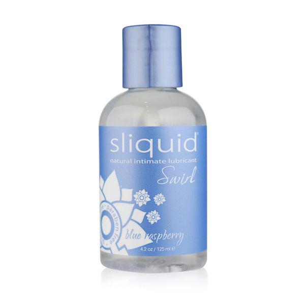 Lubricante H2O de Frambuesa Azul Naturals Swirl (125 ml) Sliquid 9107