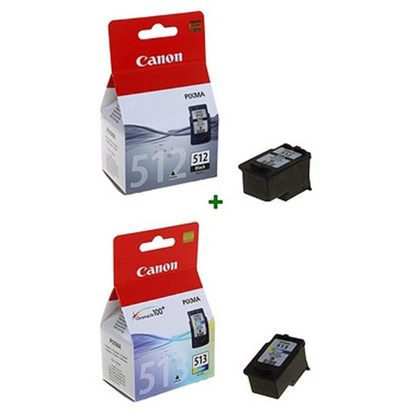Cartucho de Tinta Original (pack de 2) Canon PG512+CL513 (2 pcs) Negro/tricolor