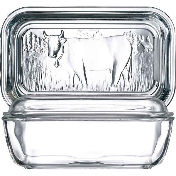 Butter Dish Luminarc Vaca White Glass (17 x 7 cm)