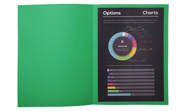 Folder 217104E Green Card (10 pcs) (Refurbished A+)
