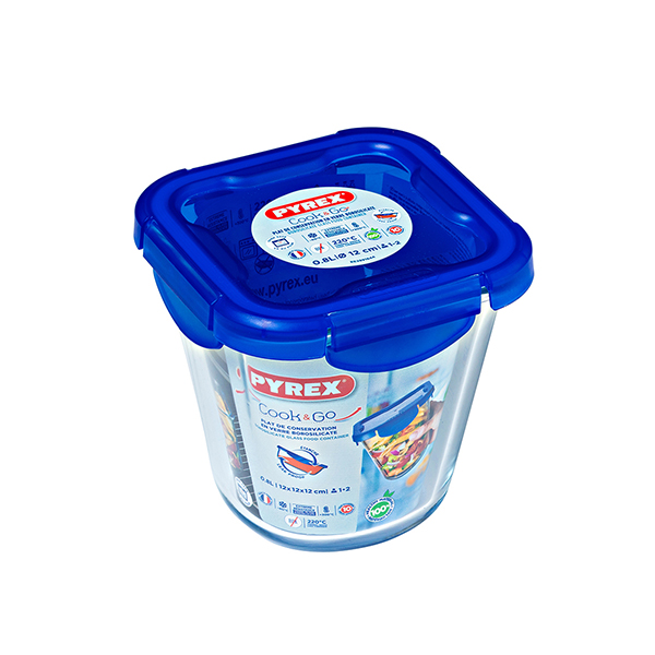 Lunch box Pyrex COOK&GO Transparent Glass 0,8L