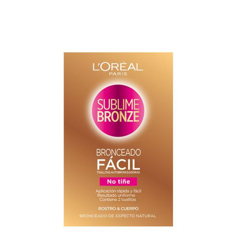 Self-bronzing towelettes Sublime Bronze L'Oreal Make Up (2 uds)