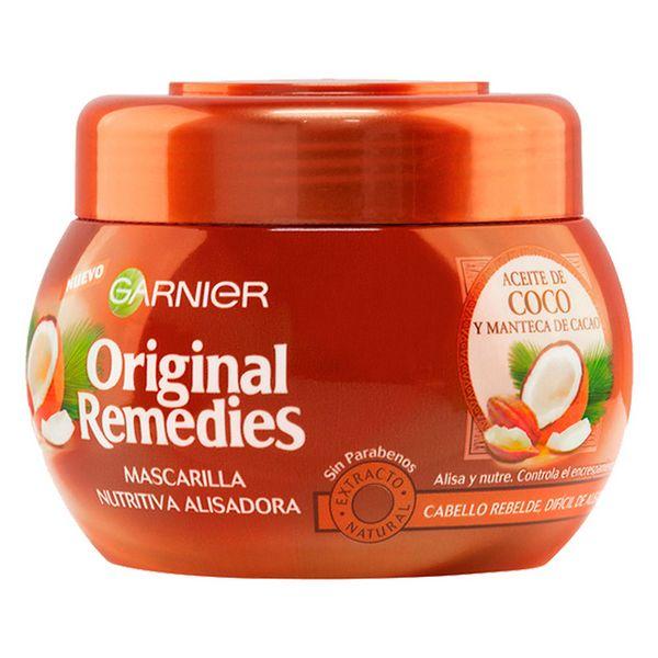 Mascarilla Capilar Nutritiva Alisadora Aceite De Coco Original Remedies Fructis (300 ml)