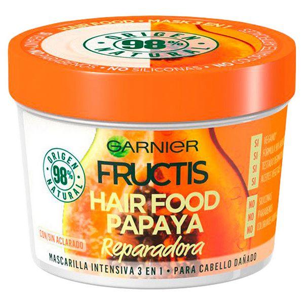 Krepitvena maska za lase Hair Food Papaya Fructis (390 ml)