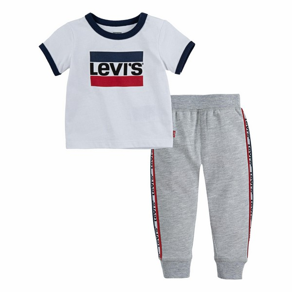 Baby's Tracksuit Levi's Luchy Jogger White