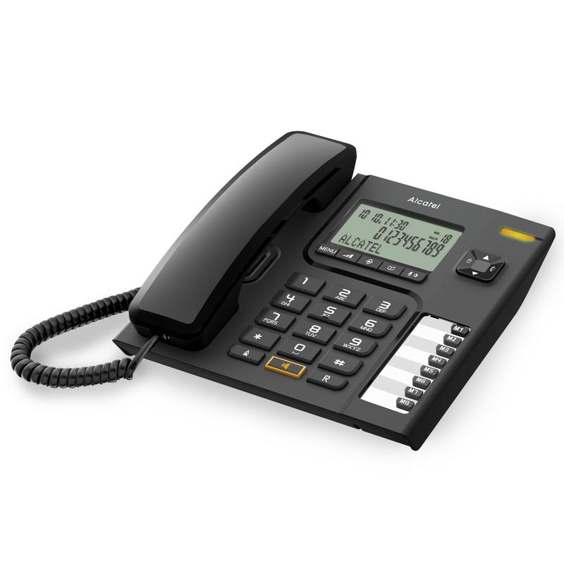 Teléfono Fijo Alcatel Versatis T76 DECT LED Negro