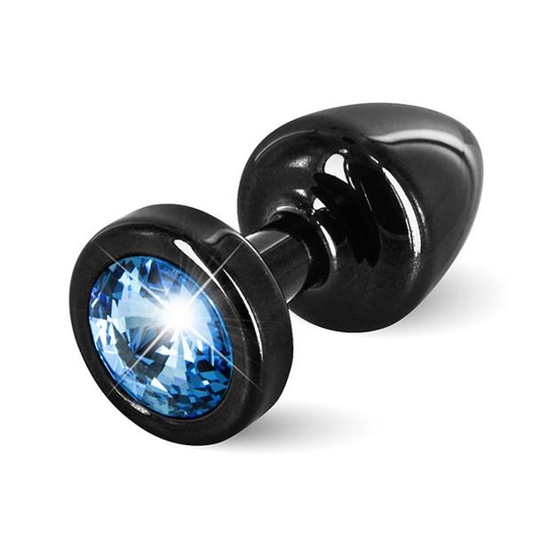 Anni Butt Plug Round Black & Blue 25 mm Diogol 72585