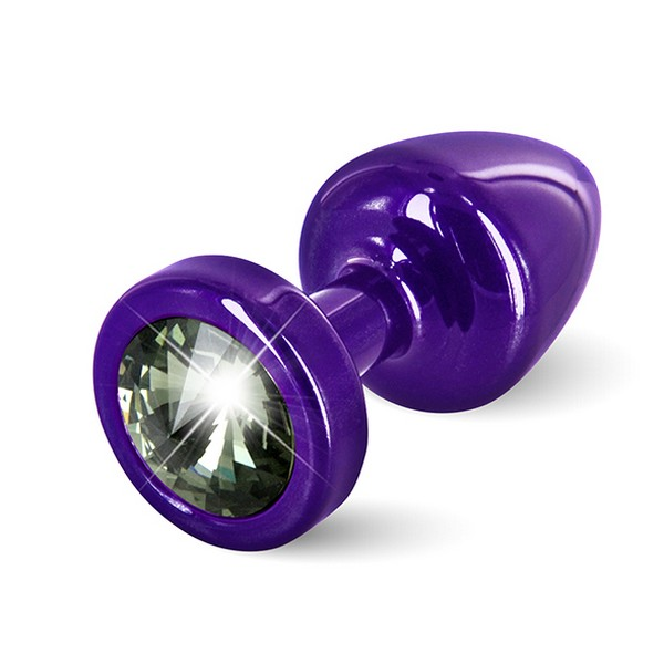 Anni Butt Plug Round Purple & Black 25 mm Diogol 72622