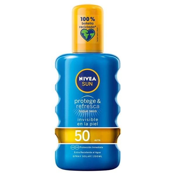Spray Sun Protector Protege & Refresca Nivea Spf 50 (200 ml)