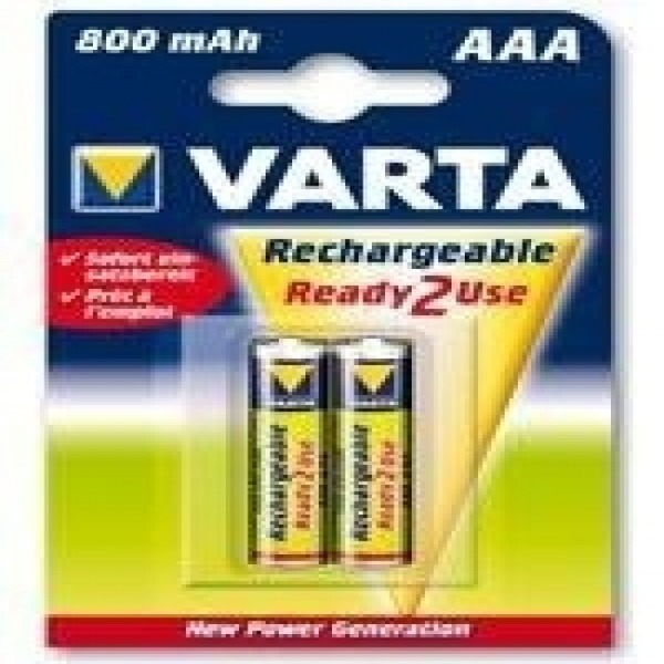 Rechargeable Batteries Varta 220837 1,2 V 800 mAh AAA