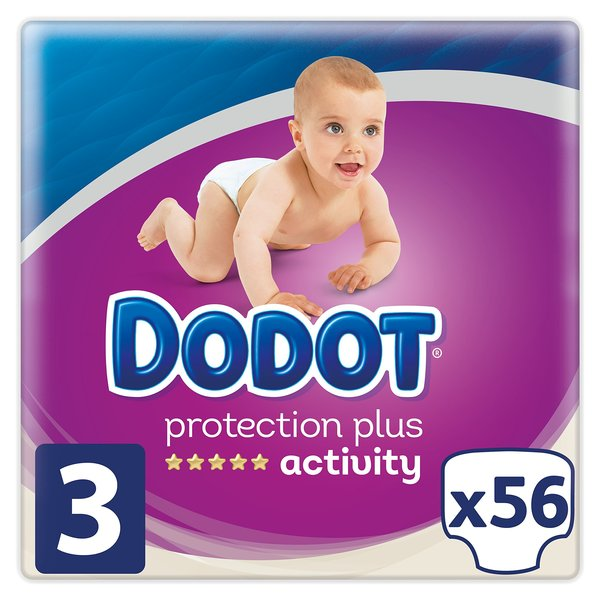 Disposable nappies Dodot Protection Plus Activity (56 pcs) (Refurbished A+)