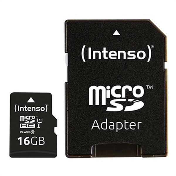 Tarjeta de Memoria Micro SD con Adaptador INTENSO 34234 UHS-I Premium Negro