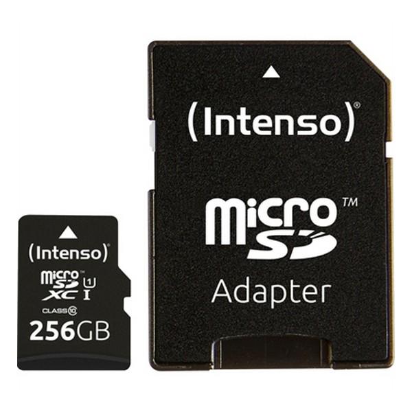 Tarjeta de Memoria Micro SD con Adaptador INTENSO 3423492 256 GB Negro