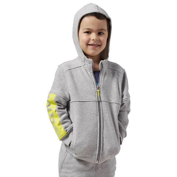 Children's Hoodie Reebok B ES FL FZ HDY Grey
