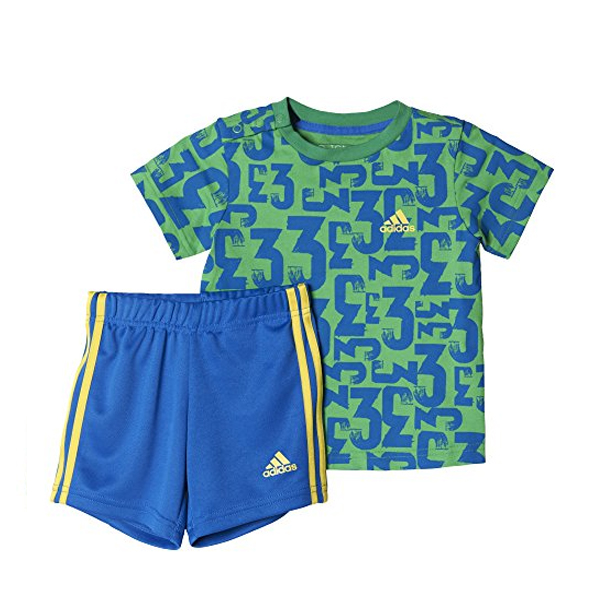 Sports Outfit for Baby Adidas I SUM SET COUNT Green