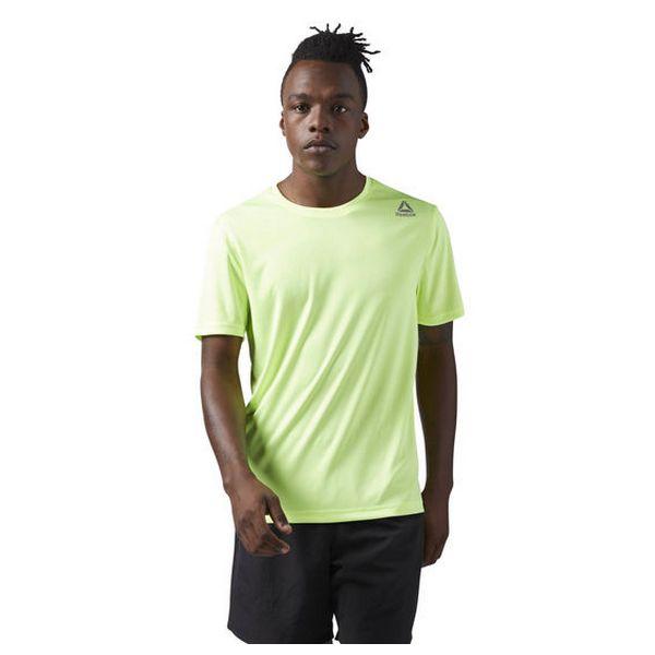 Men's Short Sleeve T-Shirt Reebok RUN SS TEE Green