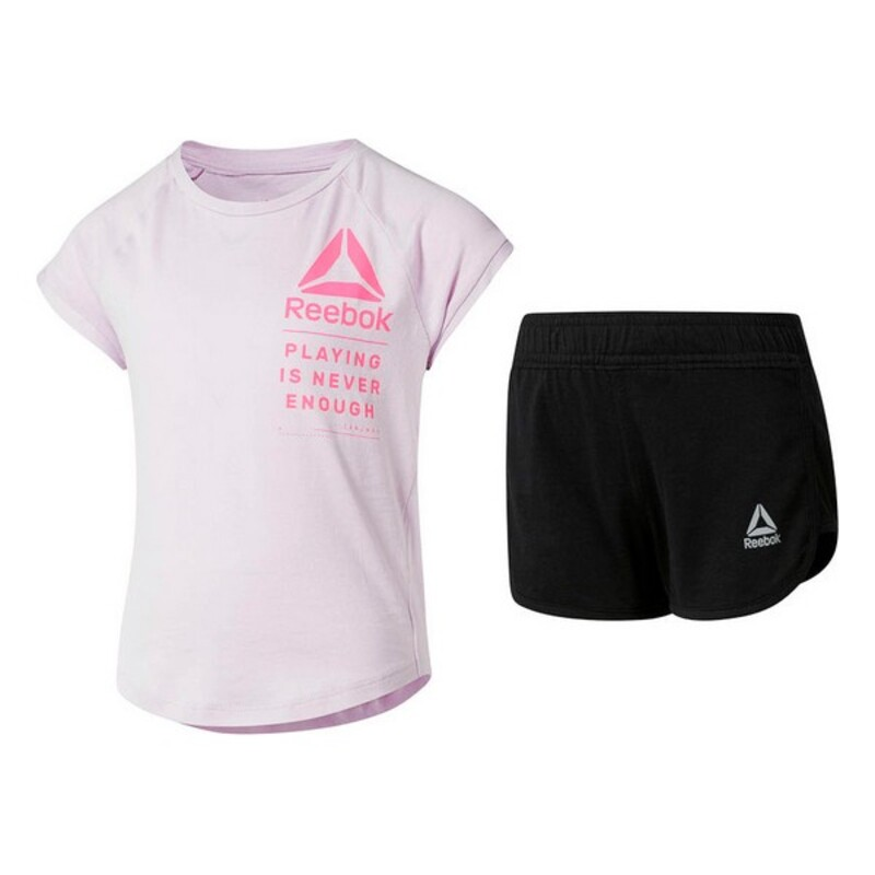 Children's Sports Outfit Reebok G ES SS White Black