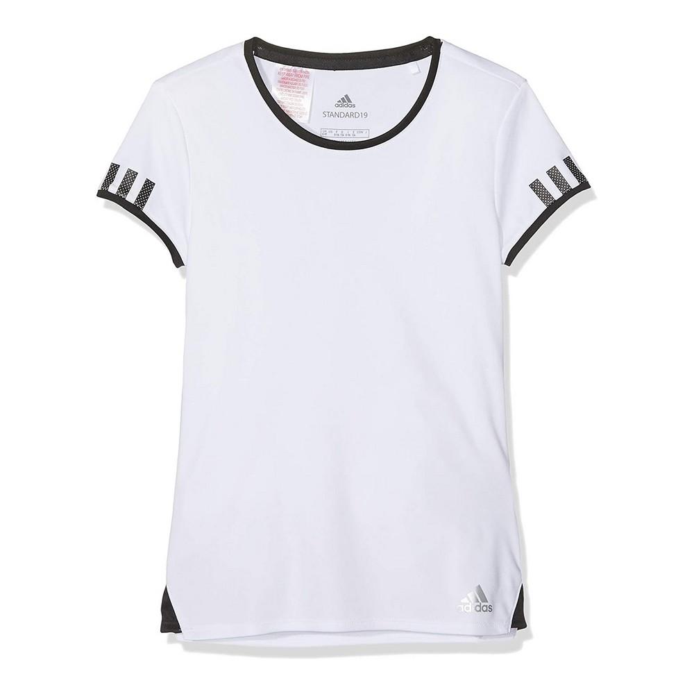 Child's Short Sleeve T-Shirt Adidas CLUB TEE DU2464 White Polyester