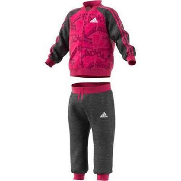 Baby's Tracksuit Adidas I Bball Jog FT Pink Black