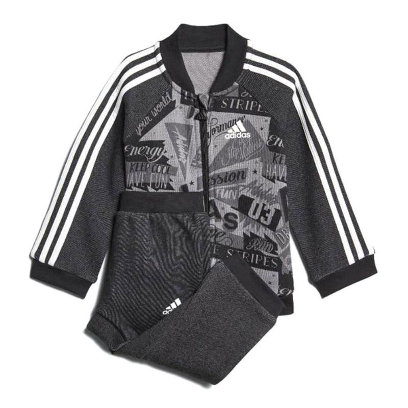 Baby's Tracksuit Adidas I BBALL JOG FT Grey