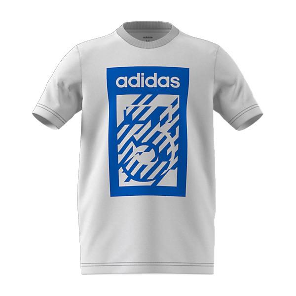 Child's Short Sleeve T-Shirt Adidas YB BOX TEE  White