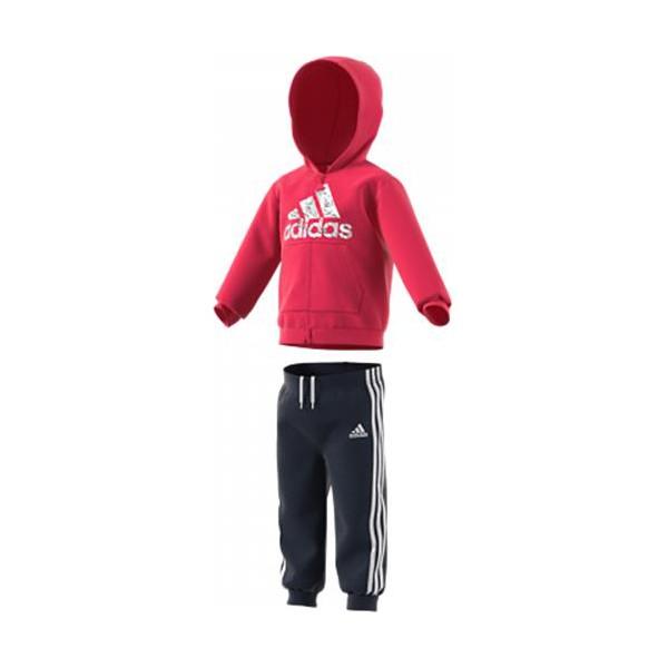Baby's Tracksuit Adidas I LOGO FZ HD FL Pink