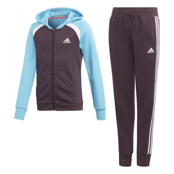 Children's Tracksuit Adidas G HOOD COT TS  Blue