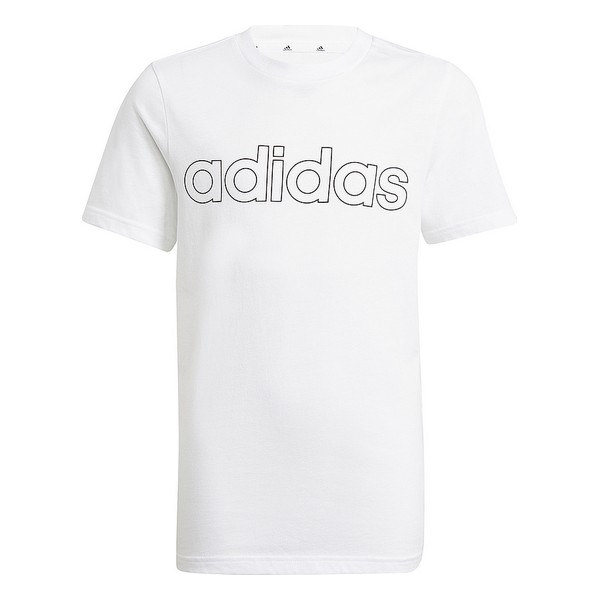 Child's Short Sleeve T-Shirt Adidas B LIN T GN4002 White
