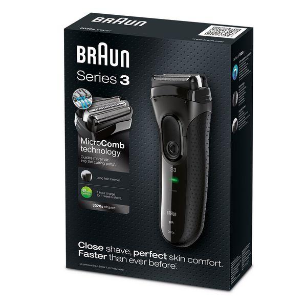 Máquina de Afeitar Braun 3020S Negro