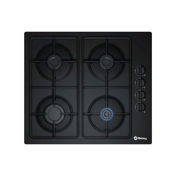 Gas Hob Balay 3ETG464MB (60 cm) Black Crystal (4 Stoves)