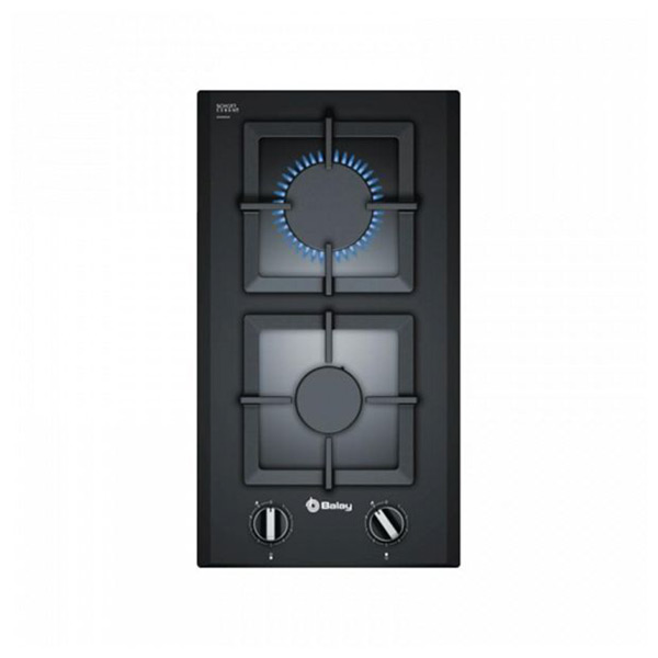 Gas Hob Balay 3ETG632HB (30 cm) Black (2 Stoves)