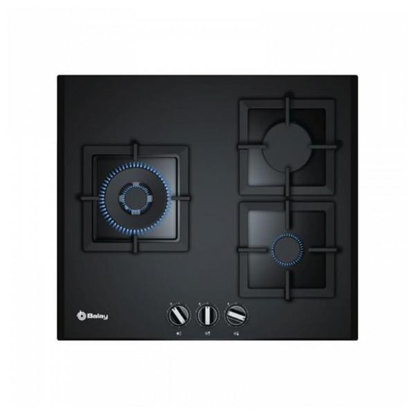 Gas Hob Balay 3ETG663HN (60 cm) Black Crystal (3 Stoves)