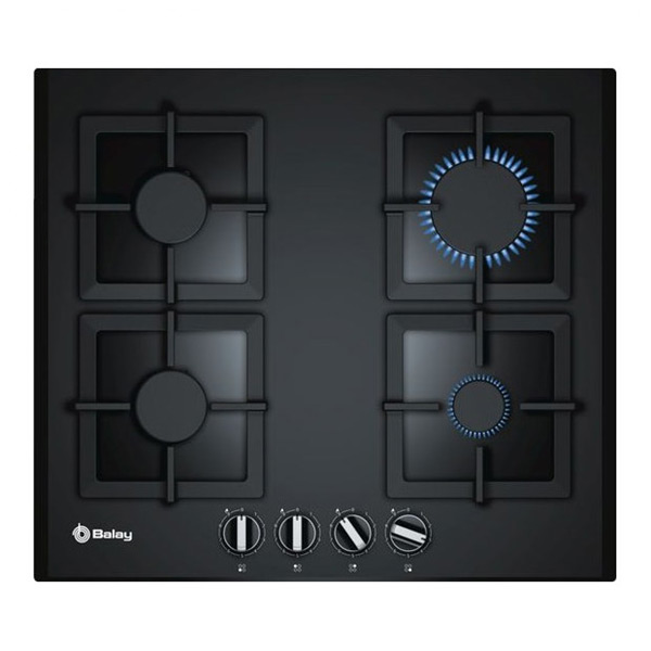 Gas Hob Balay 3ETG664HB 60 cm 60 cm Black Crystal (4 Stoves)