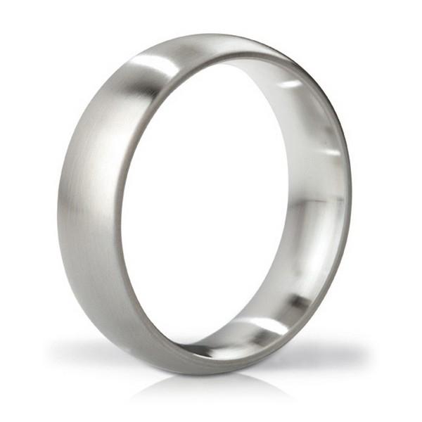 Earl Brushed Steel Love Ring Mystim