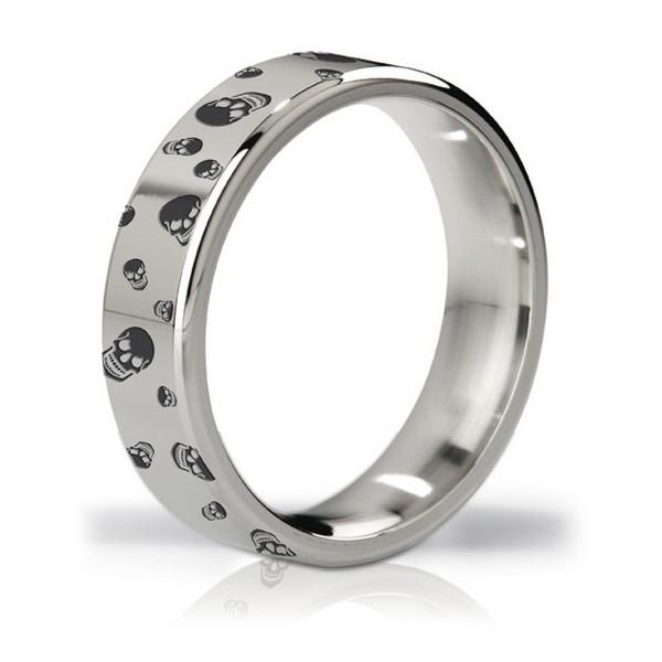 Duke Polished & Engraved Steel Love Ring Mystim